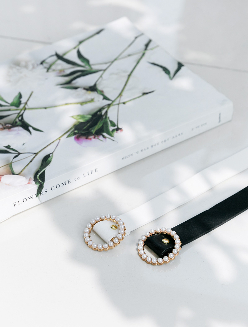 [EVELLET] Anor Pearl Ring Belt