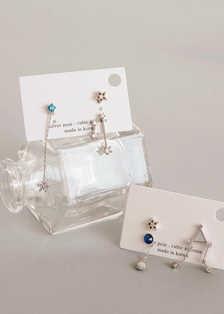 Rayon constellation earring